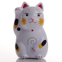 Wholesale Lucky Cat Welcome doorbell Electronic wireless motion sensor Guest Saluting entry doorbell Chime