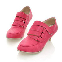 Wholesale discount Baolilai vivi brief gentlewomen hasp small pointed toe wood cone shoes isatie