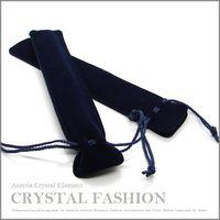 Wholesale 50 Deep Bule Orginal Swarovski Crystal touch pen Velvet pouch