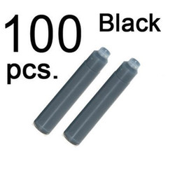 Wholesale 100 JINHAO Inch Length Fountain Pen Ink Cartridge Refills BLACK