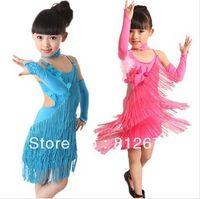 Wholesale Children s dancewear cheap children stage wear fashion kids Latin performance dress girls latin dance dress XC