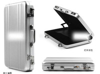 Wholesale Fashion Hot Password Aluminium Credit Card Holder Mini Briefcase Business Card Case