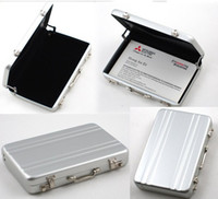 business cards - Password Aluminium Credit Card Holder Mini Briefcase Business Card Case