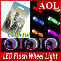 Wholesale Flashing fire flys LED Tyre Light Multi Colors Changing Car Bicycle Bike Tyre Wheel Valve sealing Cap Stem
