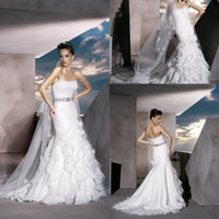 Cheap Reference Images Wedding Dresses Best Strapless Organza Bridal Gown