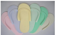 foam pedicure slippers - HOT Disposable Slipper EVA Foam Salon Spa Slipper Disposable Pedicure thong Slippers Beauty Slippe For