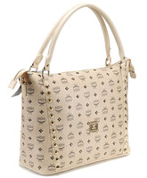 Wholesale 2013 lastest style designer handbags luxury MCM boston bags with funky rivet and featured signs print for ladies cheap online sale