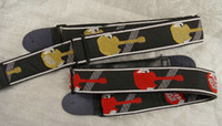 Wholesale guitar straps Guitar straps Embroidered flowers