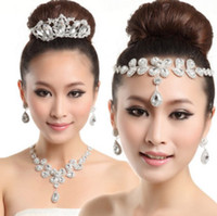 Bride's Crystals Crown Tiara Necklace Earring Set 2013 Best ...