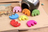 Wholesale MM elephant Wooden Bead DIY wooden embellishments Mixed Color