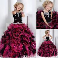 al por mayor nueva moda de vestido de la muchacha-F12 cristales de la moda de nueva Envío Gratis Colorido exuberante de Organza Encantador Espectáculo de la Niña de Parte de la Princesa Vestidos de Flores Niña Vestidos