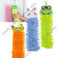 Wholesale 10Pcs Chenille fabric lovely Cartoon Hand towel Cute Animal cleaning towel for Kitchen Bathroom Office Car Use