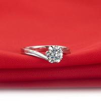 China-Tibet genuine diamond ring - Genuine sona diamond color PT950 points
