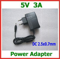 Wholesale 2pcs V A mm Power Adapter Charger for Quad Core Tablet PC Sanei N10 Ampe A10 Ainol Hero II Spark Firewire Eternal PD80 Power Supply