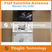 Wholesale 2013 newest worldwide used antenna Flat Satellite Antenna Azfox DL1HD Dual Linear Polarization Worldwide Used