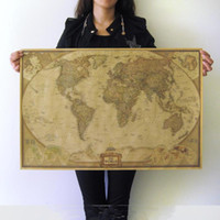 Wholesale English World Map Home decor wallpaper Wall sticker Classical decoration