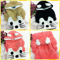 Wholesale girls Winter Thicken Plus velvet Sweaters years old baby Hooded Big cat face Sweaters