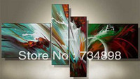 Cheap More Panel Home Decoration Best Oil Painting Abstract No frame