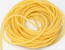 Length 10 Meters Rubber Latex Tube 5mm Diameter ELASTICA Bungee Slingshot Catapult Outdoor Hunting Replacement 2050--Yellow