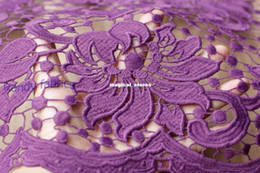 Wholesale wedding dress lace fabric Need soluble heavy fine openwork embroidery fabric popular in Europe and America new winter by yard