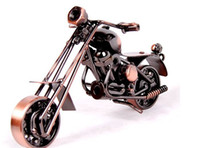 Wholesale Home decorative wrought iron handicraft tin car motorcycle model craft gifts creative group fm005