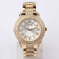 Wholesale 2013 Gold amp Silver Watch Stylish Women Lady Girls Fashion Bling Jewelry Wrist Watch Dropshipping