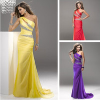 Wholesale High Quality Charming A line Floor Length Beaded Yellow Bridesmaid Dresses Chiffon Prom Dresses Evening Gowns
