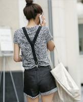 Wholesale NEW Adult Adjustable solid Suspenders Woman Belts Straps Braces