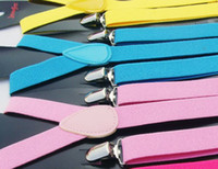 Wholesale 300pcs hotselling Adult Adjustable solid Suspenders Woman Belts Straps Braces