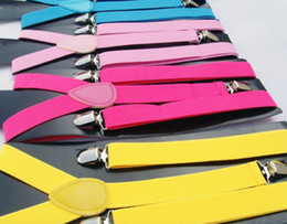 Wholesale 100pcs NEW Adult Adjustable solid Suspenders Woman Belts Straps Braces
