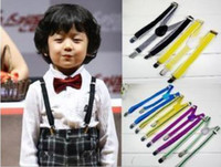 Wholesale 100pcs Children Suspenders BOYS GIRLS KIDS Suspenders Slim Braces Elastic Suspenders