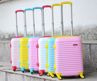Wholesale Package mail ABS PC stick box luggage trunk boarding wave zipper case inch fm007