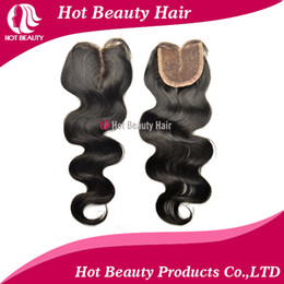 Wholesale body wave brazilian virgin lace top closure middle part top closure