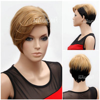European Wigs blonde wigs short hair - Rihanna Hair Wigs Halloween Wig High Quallity Synthtic Wigs For Women Short Blonde Wig Hot Style