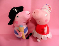 Wholesale Ballerina Peppa pig and Pirate Peppa pig George Pig Plush Toy Small Size cm RETAIL