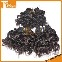 Brazilian Hair Curly 6 inches 2014 Super Quality Brazilian Hair Weaves Curly Hair 4pcs set Natural Color 1B Virgin Remy Hair Extensions Can Dye And Bleach