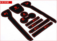 Wholesale VW polo PVC door gate slot pad mat tank gasket cup mat pad auto accessories