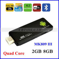 Wholesale New arrival in May Quad core RK3188 MK809 III android mini pc GB RAM GB ROM GHz Max bluetooth wifi