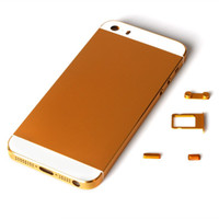 Wholesale For iPhone S Full Back Cover Case Battery Housing Battery Door Back Faceplate Replacement With Small Parts For iPhone S