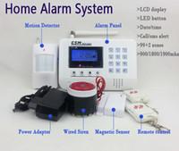 Wholesale GSM PSTN Dual Nets zones LCD display wireless home security alarm system Smart voice Burglar Intruder alarm system GSM900
