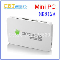 Wholesale MK812A Bluetooth Version rockchip RK3188 android TV box stick quad core mini PC dongle HDMI WiFi XBMC DLNA built in camera