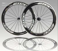 zipp - road bike mm Zipp Clincher glossy Carbon wheelset full carbon fiber wheels Alloy Brake Surface