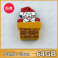 Wholesale Christmas gift USB flash Santa Claus USB Flash Drive GB Memory Stick AO024
