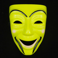 Wholesale 2013 latest full face smile mask Spray painting plastic party mask party supply halloween decoration EMS