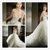 Cheap 2013 New Arrival Winter Plus size Ball Gown Demetrios Wedding Dresses Bridal Gown Beading Ruffled Tulle Zipper Sleeveless Floor Length