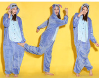 Wholesale Cartoon Animal Blue Stitch Adult Onesies Onesie Pajamas Kigurumi Jumpsuit Hoodies Sleepwear For Adults Welcome Order