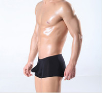 Modal Boxers Xl online - Men's seamless underwear sexy translucent ice personality male boxer four angle pants