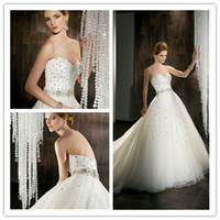 Cheap 2013 New Arrival Winter Plus size Ball Gown Demetrios Wedding Dresses Bridal Gown Beading Ruched Tulle Zipper Sleeveless Floor Length