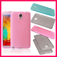 TPU For Samsung  Clear Transparent Candy Colors TPU Gel Silicone Case Cover Skin For Samsung Galaxy Note3 Note 3 III N9000