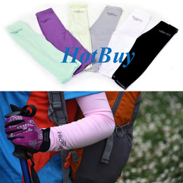 Cooling Arm Sleeves Cover UV Sun Protection Sport Arm Sleeve Outdoor #2582